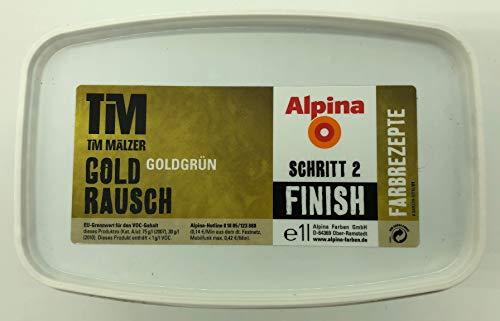 Alpina Farbrezepte Tim Mälzer Gold Rausch FINISH (Schritt 2) 1 Liter für ca. 7-10 m² (Goldgrün)