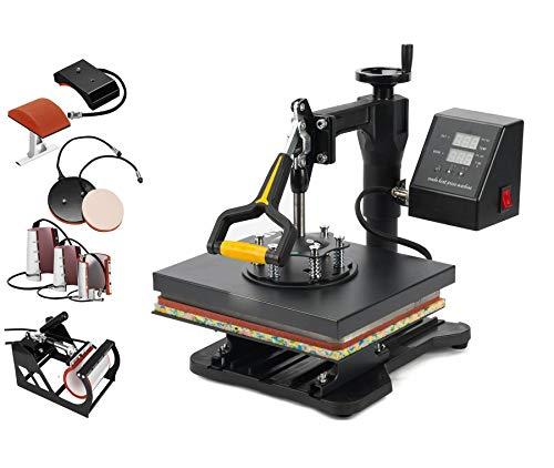 Smarketbuy 8 in 1 Digital Multifunctional Heat Press Machine 12' x 10' Heat Transfer Machine for T Shirts Hat Mug Cap Plate (8in1)