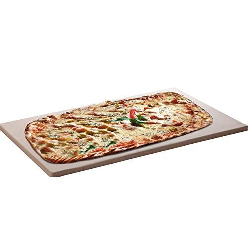 SANTOS Pizzastein XXL, für Gas-Grill oder Backofen, inkl. Rezeptheft, rechteckig 45 x 35 x 1,5 cm