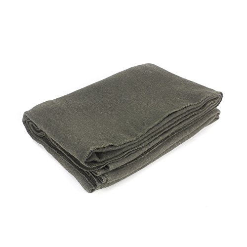 "EverOne Grey Wool Fire Retardant Blanket, 62"" x 80"""