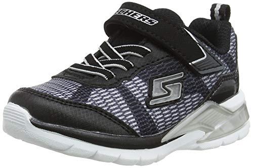 Skechers Baby Jungen Erupters Ii - Lava Waves Sneaker, Mehrfarbig (Black/Silver Bksl), 26 EU