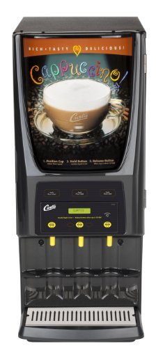Wilbur Curtis G3 System 3 Station Cappuccino (One 5 Lb And Two 10 Lb Hopper), Dual Voltage - Commercial Cappuccino Machine - PCGT3DV (Each)