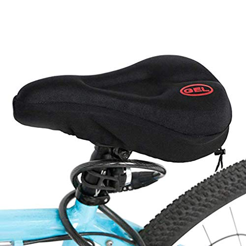 Eariy Fahrrad Sattelbezug,Neue breitere Fahrrad Silikonkissen Soft,Gel Fahrradsitz, breiter, weicher, komfortabel atmungsaktiv,Ergonomisch Fahrrad Sattel,für Mountainbike, Rennrad,etc