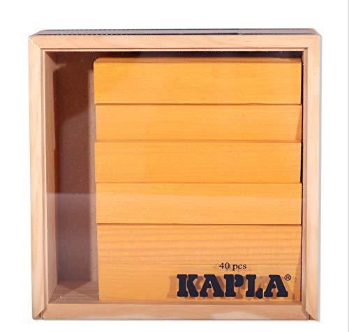 Kapla 9000156 Holzplättchen 40-teilig in Box, Gelb - 2