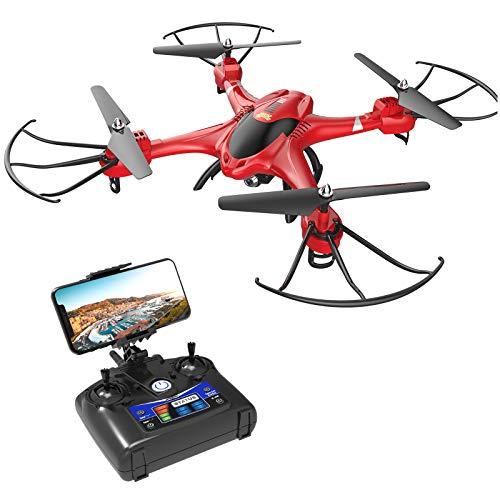 Holy Stone HS200 Drone with HD FPV Camera 720P for Adults Kids, Beginner Quadcoper with Auto Hover, Voice Control, Headless Mode, Gravity Control, Easy Toddler Toys for Xmas Birthday Holiday, Upgraded