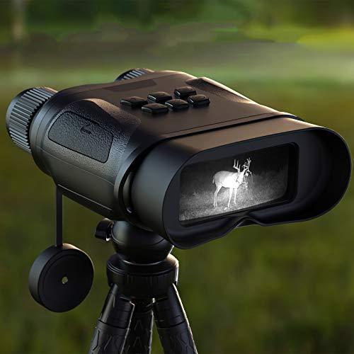 Kacsoo Occhiali per visione notturna Binocoli con schermo LCD, Fotocamera digitale a infrarossi (IR), Distanza di visione notturna di 400 metri, Foto ad alta definizione Video Caratteristiche Binocolo