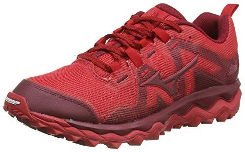 Mizuno Wave Mujin 6, Zapatillas de Running para Asfalto Hombre, Rojo (Cred/Biking Red 56), 41 EU