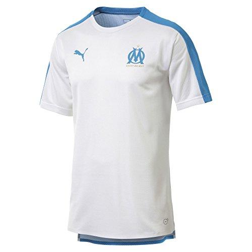 PUMA Olympique de Marseille Herren Stadium Trikot Puma White-Bleu Azur XS