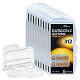 60x Duracell Activair 312 Hörgerätebatterien,...