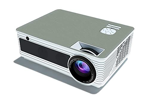 Mini proyector de video, proyector, cine en casa, oficina WiFi Práctico proyector 1280P Contraste 1500: 1 Altavoz estéreo Compatible con reproductor de DVD Blu Ray / PS3 / PS4 / Xbox / Entrada HDMI