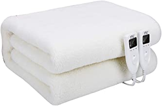Heated Mattress Electric Heating Blanket Luxury Fleece Super King Size Heated Under Blanket with Dual Control 2 Detachable...