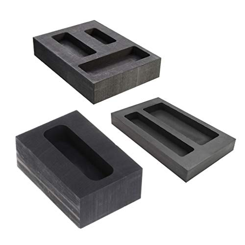 Silber oder Aluminium Schmelzen f/ür Gold Graphit-Gussform Barren-Form zum Raffinieren