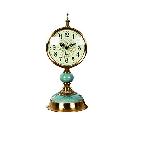 jinyi2016SHOP Table Clock Living Room Creative Desk Clock/desktop, Home, Desk Clock, Seat Clock/personal Pendulum Clock/18.9 Inches, Metal, Ceramic Desk Clock