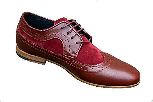 Italy Design Young Fashion Mode Herren Business Hochzeit Sneaker Schuhe (43 EU, Bordeaux)
