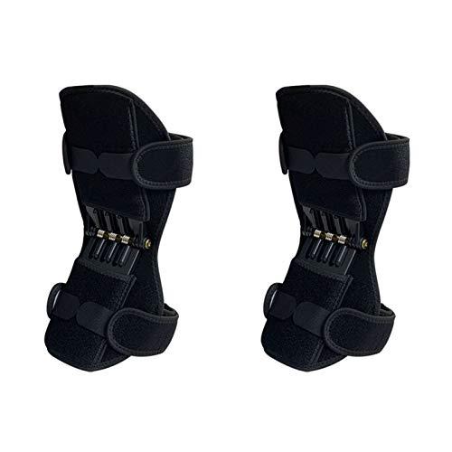 Rodilleras Manga de la rodilla de la compresión del deporte del poliéster elástico for el baloncesto de la rodilla de protección de deportes de protección profesional rodillera ( Color : Black )