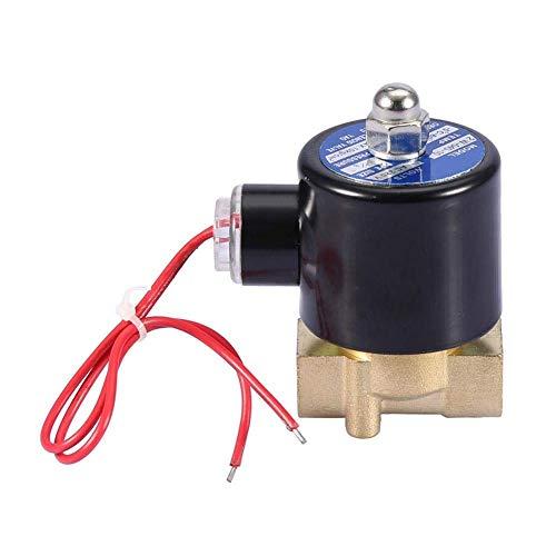 WHEEJE Válvula solenoide eléctrica, DN10 normalmente cerrado 2 posiciones válvula solenoide electromagnética de 2 vías para sistema de transmisión neumática AC 220V 3/8'