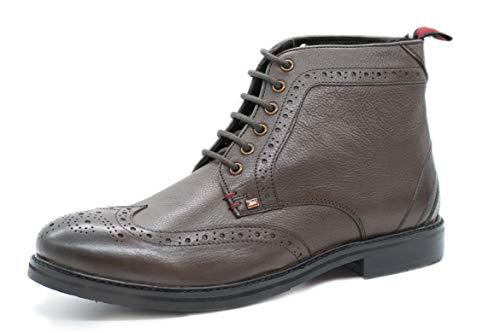 Ben Sherman Schnürrstiefel Herren Leather Boots Modell Cason II Lederstiefel (43 EU, Braun)