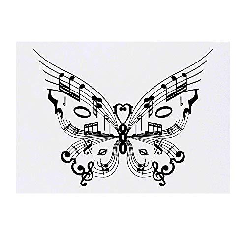 Azeeda Grand 'Papillon de Musique' Tatouages temporaires (TO00035602)