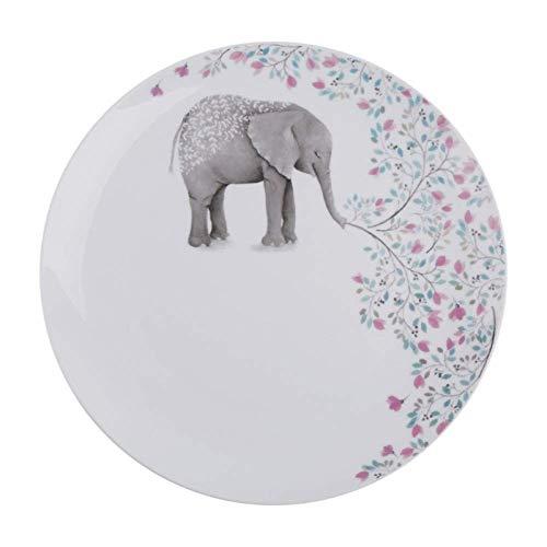 ShiSyan Nordic Bone China Occidental Filete pastas Placa de cerámica Grande Disco Creativo de 10 Pulgadas Modelo de Placa Animal Junta B 27X2.5Cm Platos