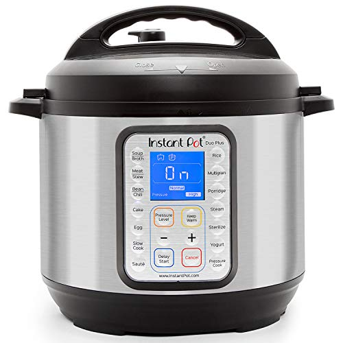 Instant Pot Duo Plus 9-in-1 Electric Pressure Cooker, Sterilizer, Slow Cooker, Rice Cooker, Steamer, saute, Yogurt Maker, and Warmer, 6 Quart, 15 One-Touch Programs