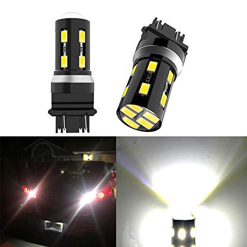 2PCS 3156 3157 Led Bulb 3157 3057 4157 3056 6000k White 18SMD-5630 Chipsets Led Bulb for Car Truck Brake Lights Backup Reverse Lights,Turn Signal Tail lights