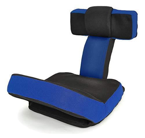 座椅子 ゲームチェア ゲーミングチェア ハイバック マルチリクライニング ゲーム座椅子 「ソリッド」 (ヘッドギア フットギア) 蒸れにくい メッシュ素材 PSカラー色