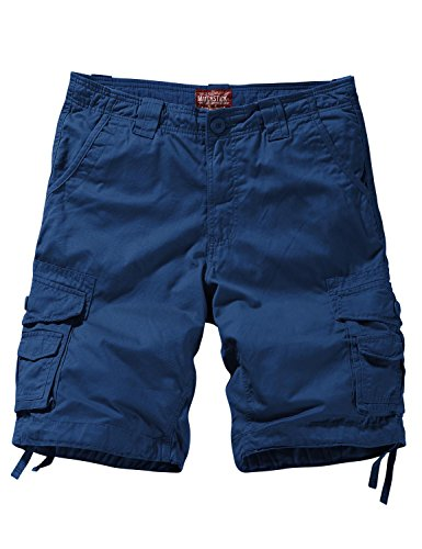 Match Men's Twill Comfort Cargo Short Without Belt #S3612 (Label Size 3XL/38 (US 36), Indigo Blue)