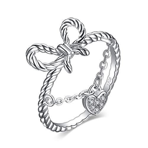 JewelryPalace Anillo Corazón Cuerda Nudo...