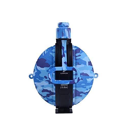 Botella de agua plegable de silicona, botella de agua de 580 ml, telescópica, de moda, plegable, respetuosa con el medio ambiente, para bebidas frías, cálidas, ligeras, duraderas, con gancho, para prevenir fugas, boca ancha, L