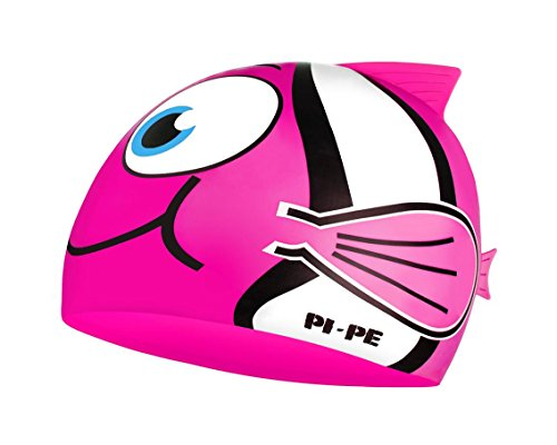 PI-PE Kinder Badekappe Fishy Pink, One Size