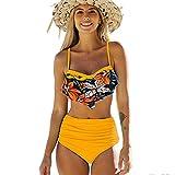 DURINM Traje de Baño Bikini Mujer de Cintura Alta Traje de Baño de Dos...