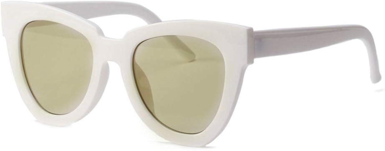 Fuqiuwei Sonnenbrillen Simple And Versatile Retro Vintage Sunglasses Female Big Box Small Face Retro Sunglasses Glasses Female