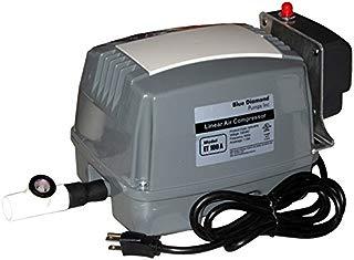 ET100A Septic Air Pump w/Lo Pressure Alarm & Back Pressure Safety Valve (Maximizes Aerator Service Life)