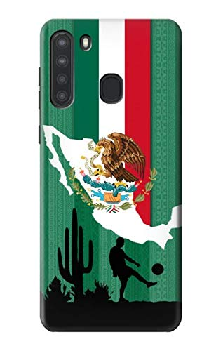 R2994 Mexico Football Soccer Map Flag Case Cover for Samsung Galaxy A21