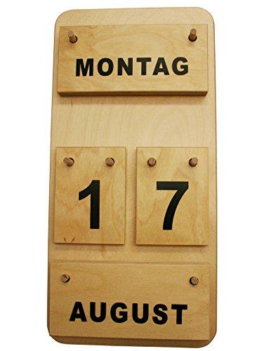 Montessori Dauerkalender aus Holz, Profimaterial Made in Germany