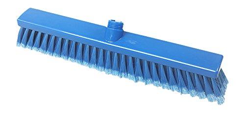 Maya Professional Tools 15004-2 Besen FBK/Lebensmittelhygiene mit geschlitzten Borsten, 400 mm x 50 mm, Blau