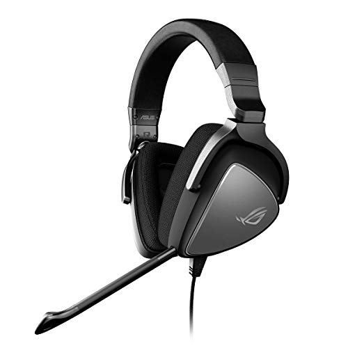 ASUS ROG Delta Core Gaming Headset (Hochauflösender Sound, Kompatibel mit PC, PS4, Xbox One und Nintendo Switch) grau