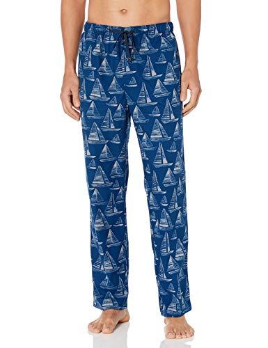 Nautica Herren Men's Fleece Knit Sleep Pants Pyjamahose, Estate Blue, Small