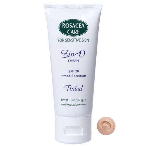 TINTED ZincO - SPF 20 - Sunscreen, Moisturizer for rosacea (2 oz)