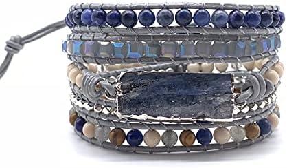 Dallas Mall HaiFiy Direct stock discount Beaded Wrap Bracelets Boho Le Tibetan Stone Beads Natural