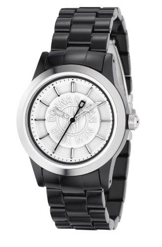 DKNY NY4852 - Reloj analógico de Cuarzo para Mujer con Correa de plástico, Color Negro