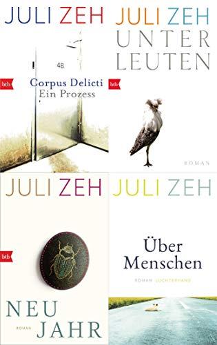 Corpus Delicti/ Unter Leuten/ Neujahr/ Über Menschen von Juli Zeh im Set + 1 exklusives Postkartenset