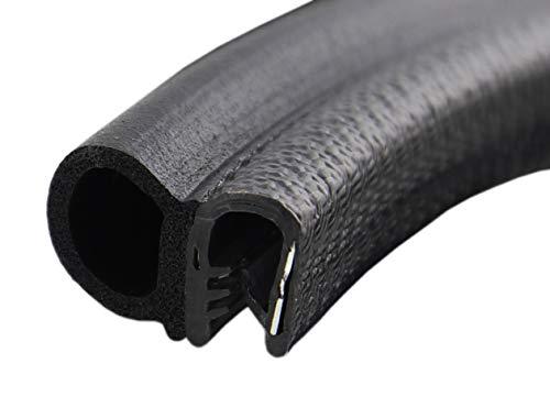DS1 Dichtungsprofil von SMI-Kantenschutzprofi - Klemmbereich 1-4mm - mit seitlicher Dichtung aus EPDM Moosgummi - Klemmprofil aus weich PVC - einfache Montage, selbstklemmend ohne Kleber (10 m)