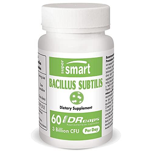 Supersmart - Bacillus Subtilis 3.1 Miliardi CFU - Fermenti Lattici Vivi Probiotici - Migliorano le Difese Immunitarie & Aiutano a Prevenire Infezioni Esterne | No OGM - 60 Capsule DR