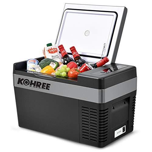 Kohree Portable Refrigerator 12 Volt Refrigerator Fast Cooling...