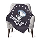 AEMAPE Snoopy Quotes Babydecke oder Flauschige Decke für Kinder Unisex-Decke für Kinderbett Couch Travel Superweiche warme Kinderdecke 50x40in
