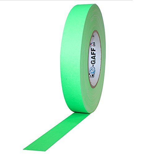 Pro Tapes Pro-Gaff-Neon Premium Fluorescent Gaffers Tape: 1 in. x 50 yds. (Fluorescent Green) by Pro Tapes