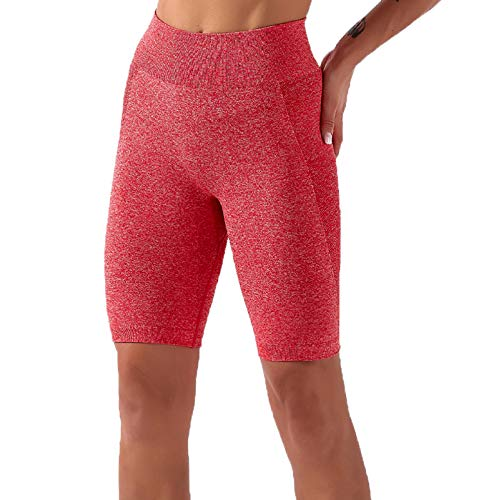 yayay Pantalones de yoga para mujer, de secado rápido, para yoga, fitness, melocotón, pantalones cortos