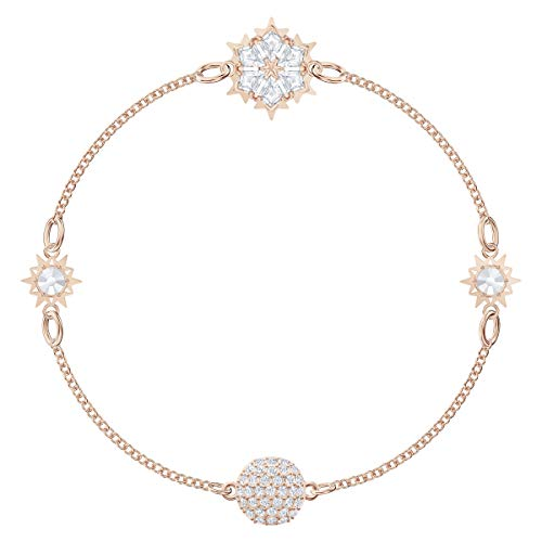 Swarovski Remix Collection Snowflake Strand, Bianco, Placcato Oro Rosa