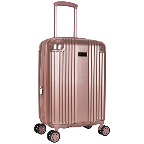 Kenneth Cole Tribeca 20-inch Lightweight Hardside Expandable 8-Wheel Spinner TSA Lock Carry-On Suitcase, Rose Gold